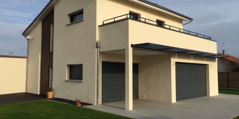 Construction d_une villa à PERONNAS dans l_AIN