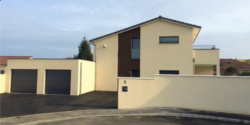 Construction d_une villa à PERONNAS dans l_AIN (2)