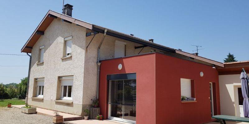 Extension d_une villa à PERONNAS dans l_AIN